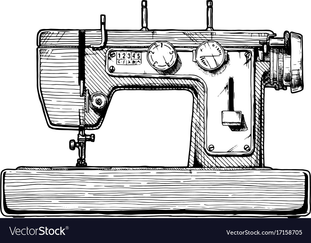 Sewing Machine Royalty Free Vector Image VectorStock Impressive Sewing Machine Vector Free