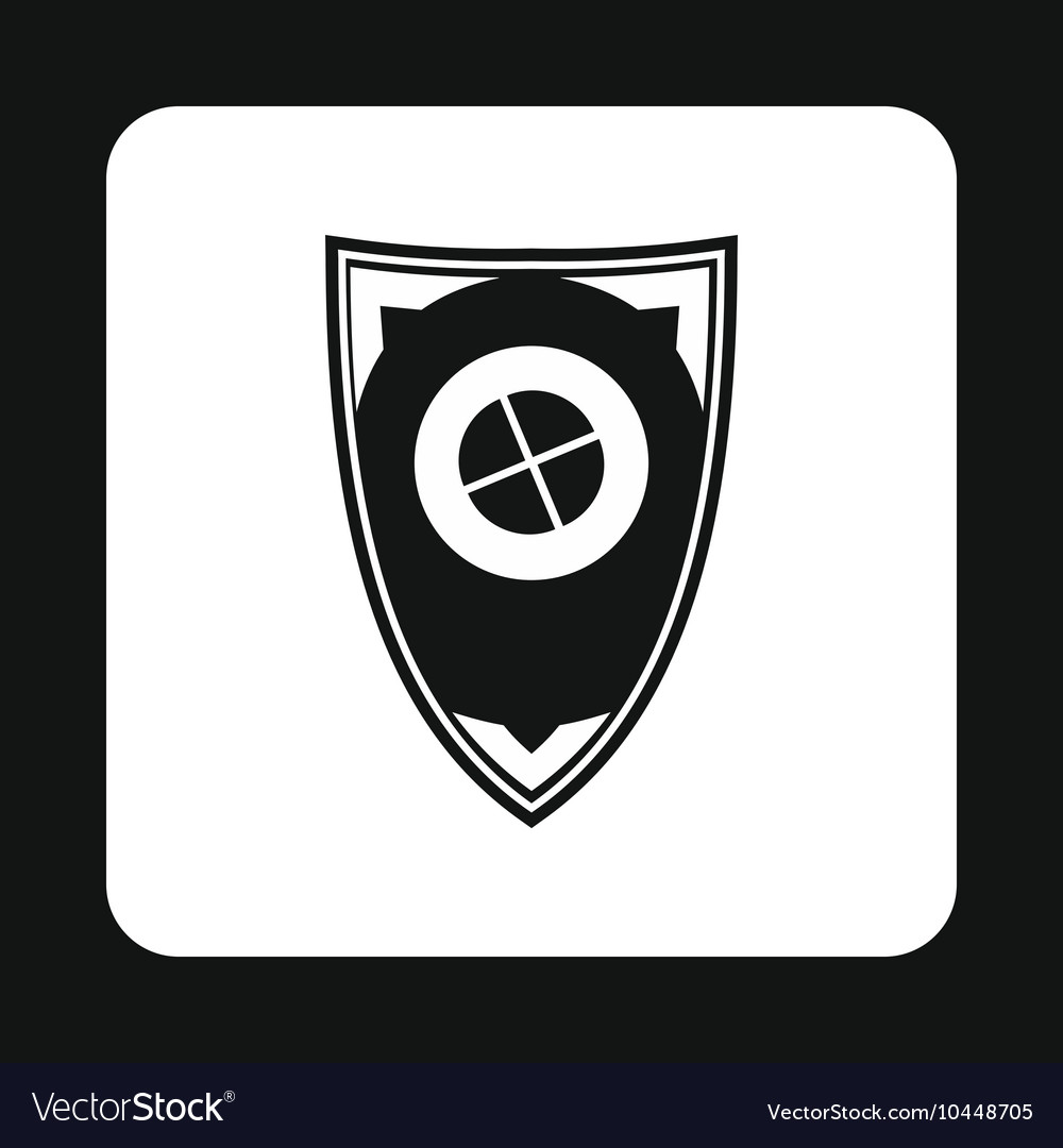 Shield For War Icon Simple Style Royalty Free Vector Image