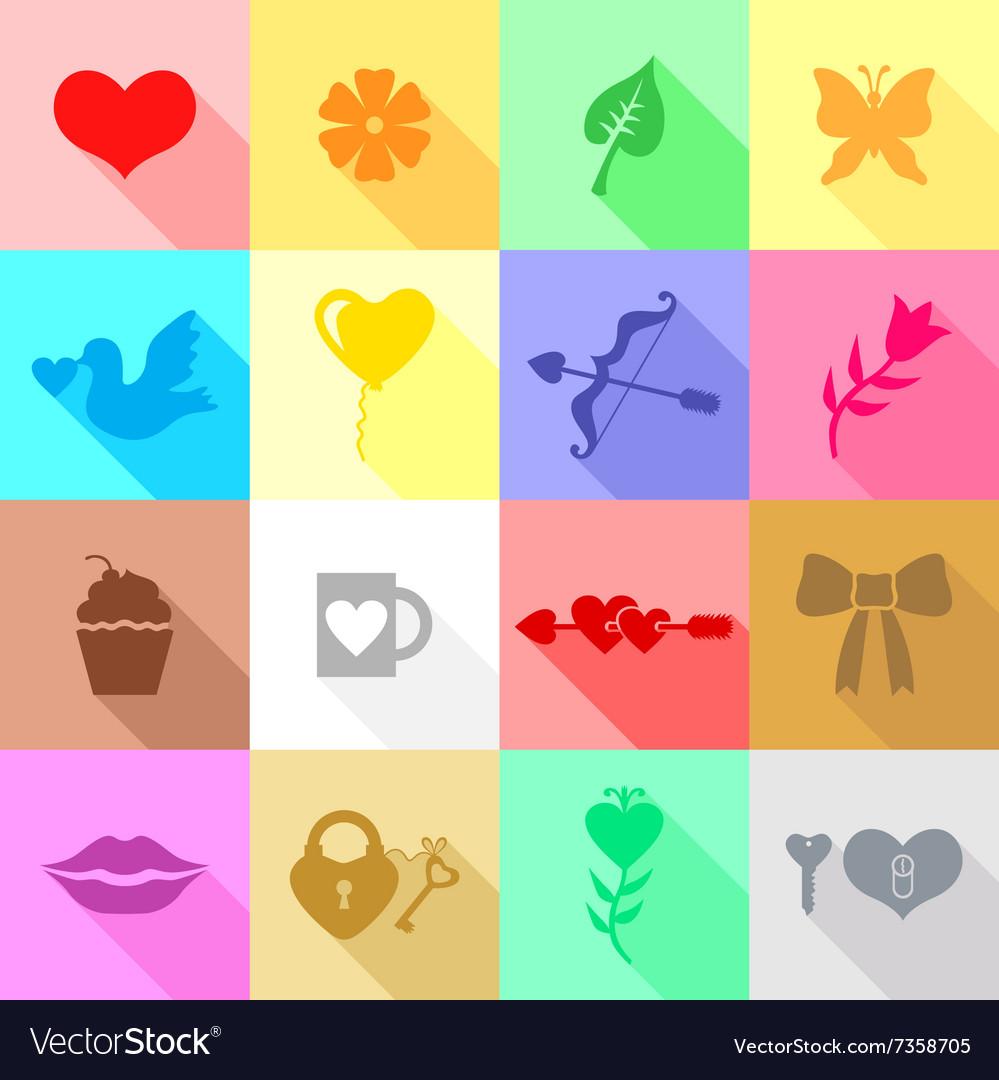 Valentine icon flat