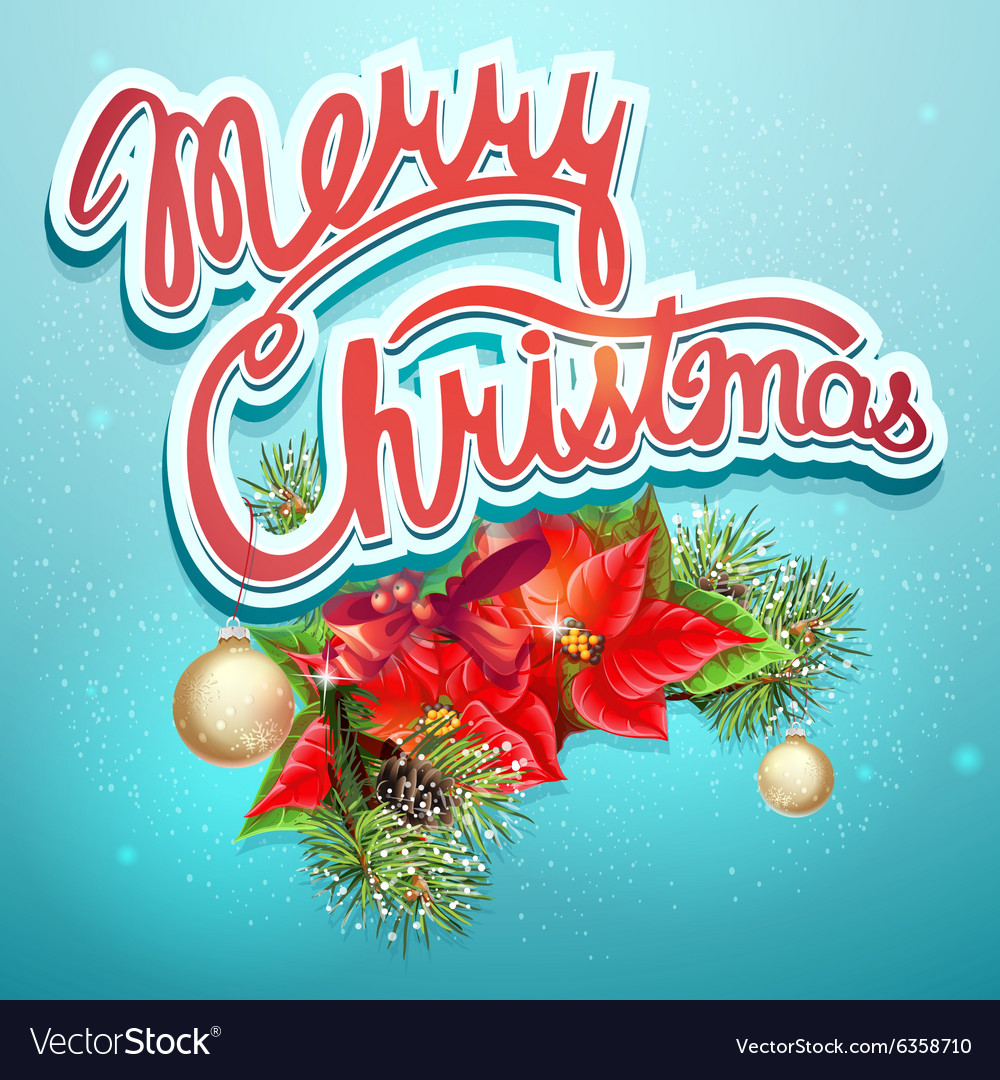 Christmas with shlyumbergom balls vector image