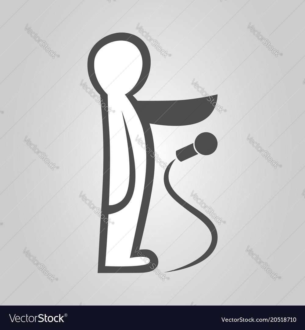 Drop the mic symbol icon