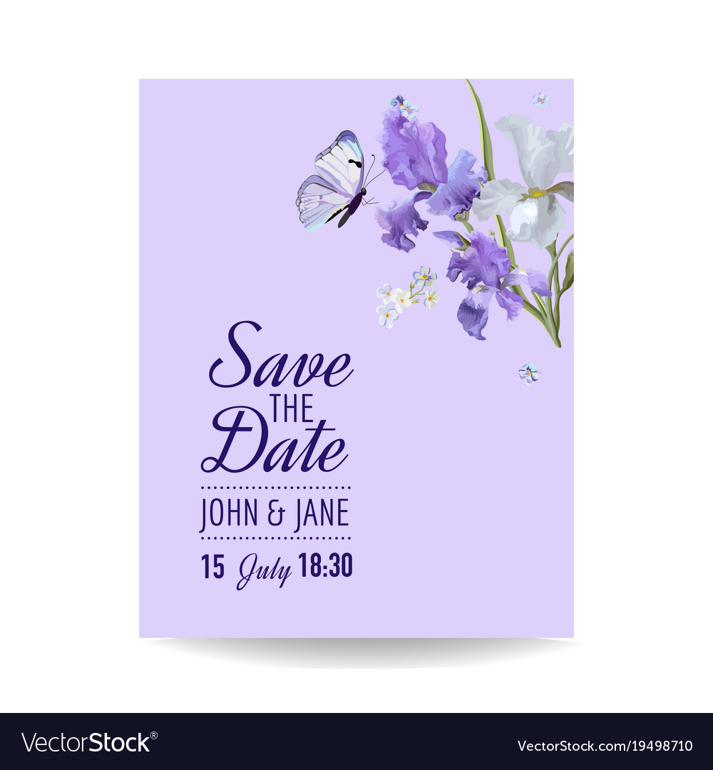 Floral Wedding Invitation Template Greeting Card