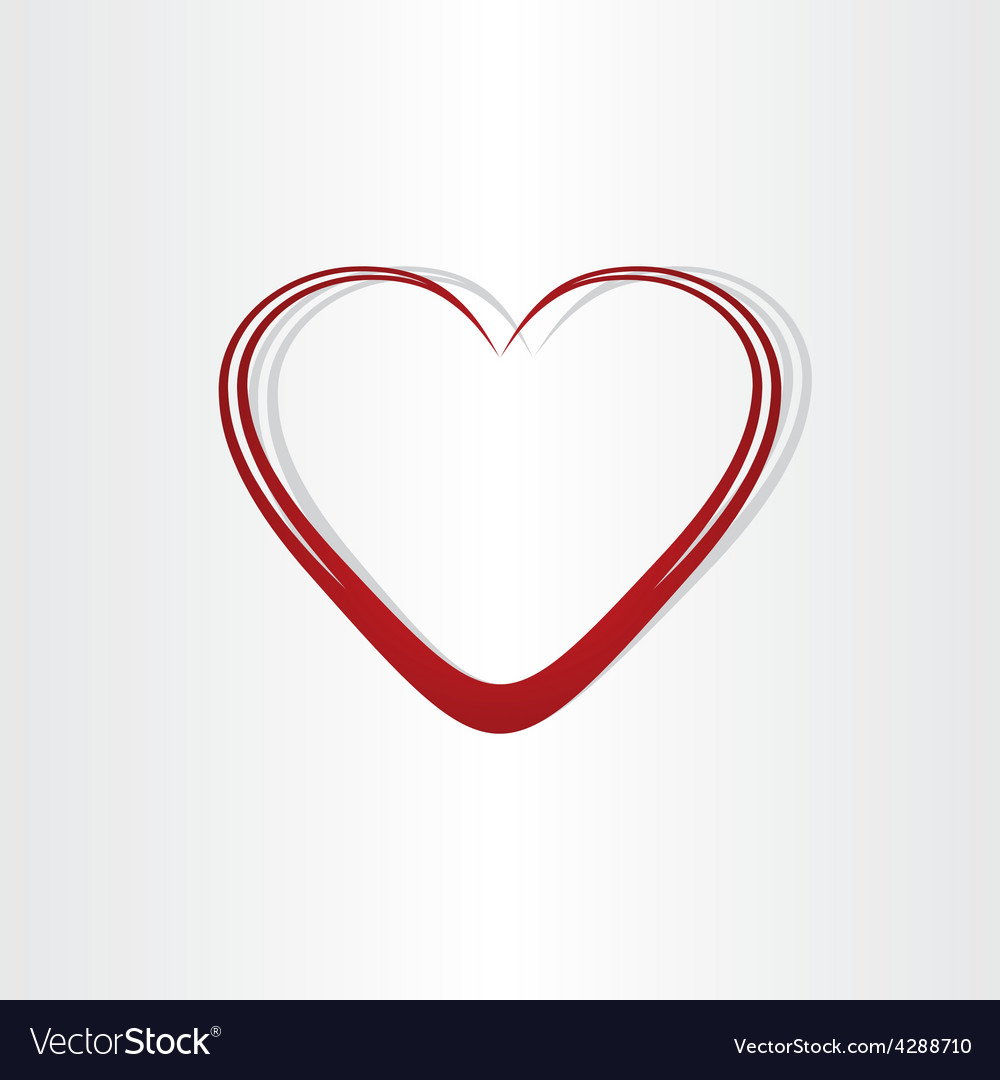 Heart Shape Text Box Frame Royalty Free Vector Image