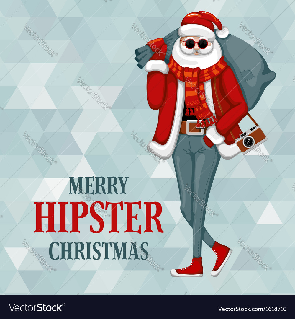 Hipster Christmas vector image