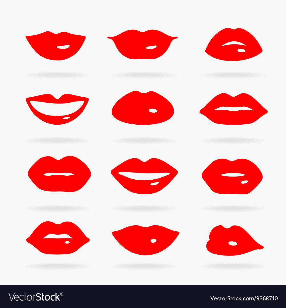 Set of Symbols Lips