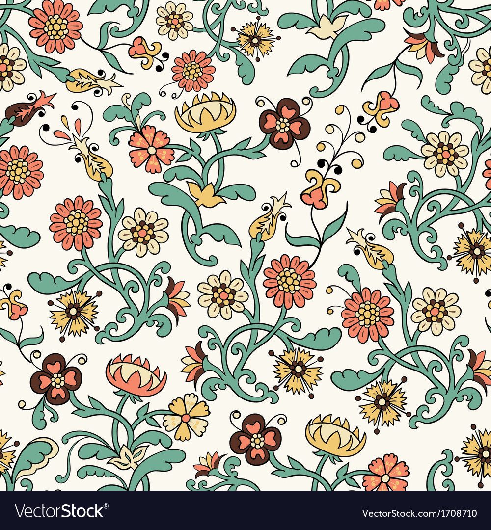 Vintage flower seamless pattern