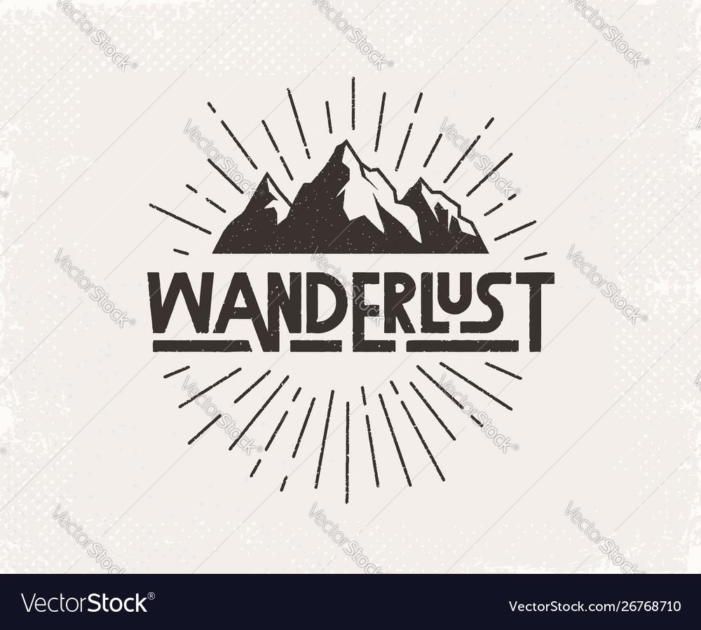 Wanderlust hand written lettering