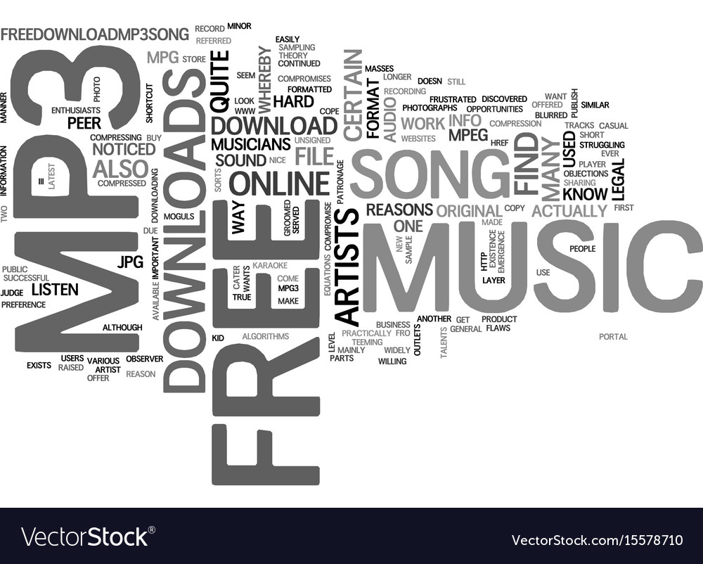 What Is Free Mp Music Download Text Word Cloud Vector Image