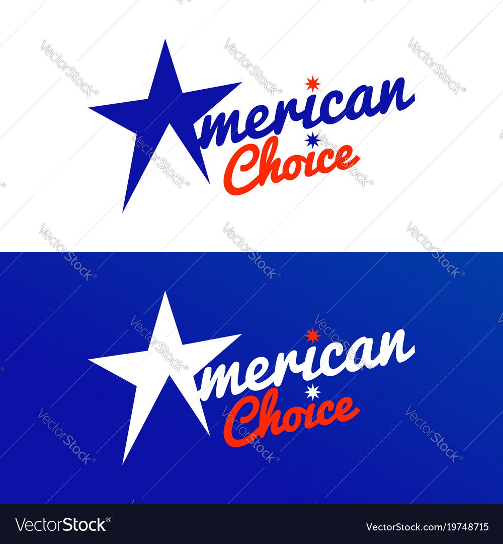 American choice star graphic design template
