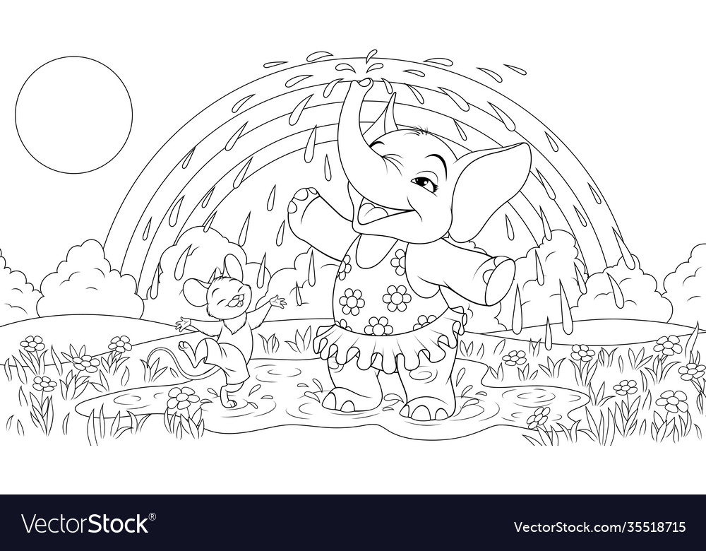 Baelephant with a mouse