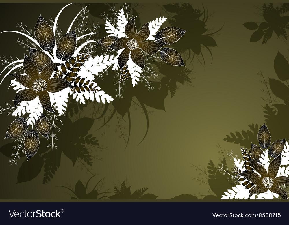 Decorative Green Floral Background