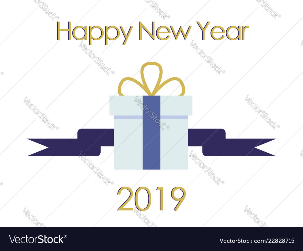 New year typographical cretaive background 2019