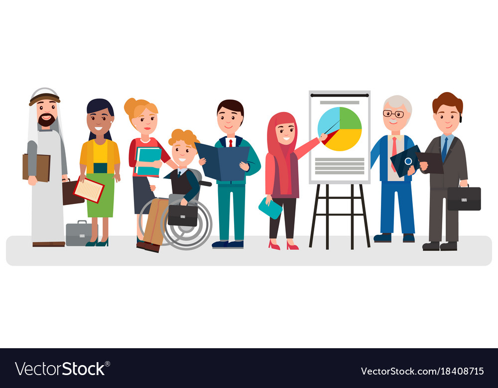 People that involved in business vector image