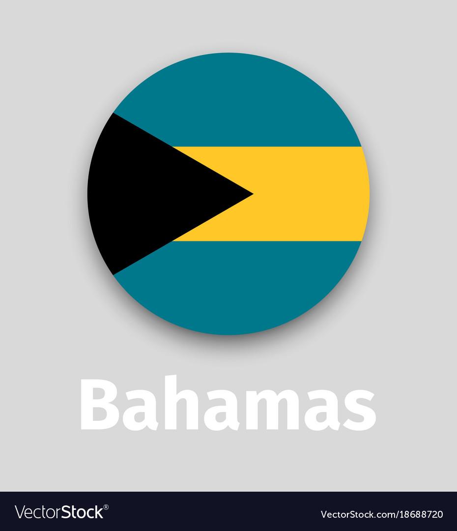 Bahamas flag round icon