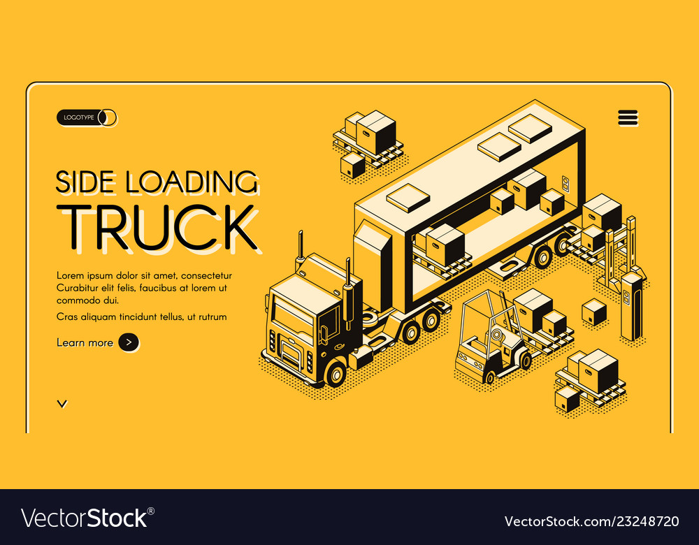 Commercial cargo delivery service web page