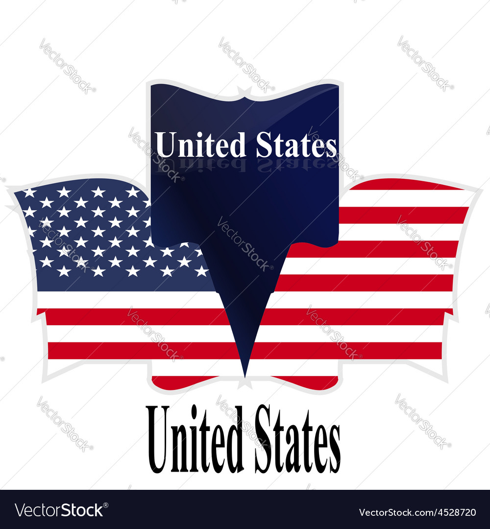 Flag USA American Culture Star Form Striped Countr