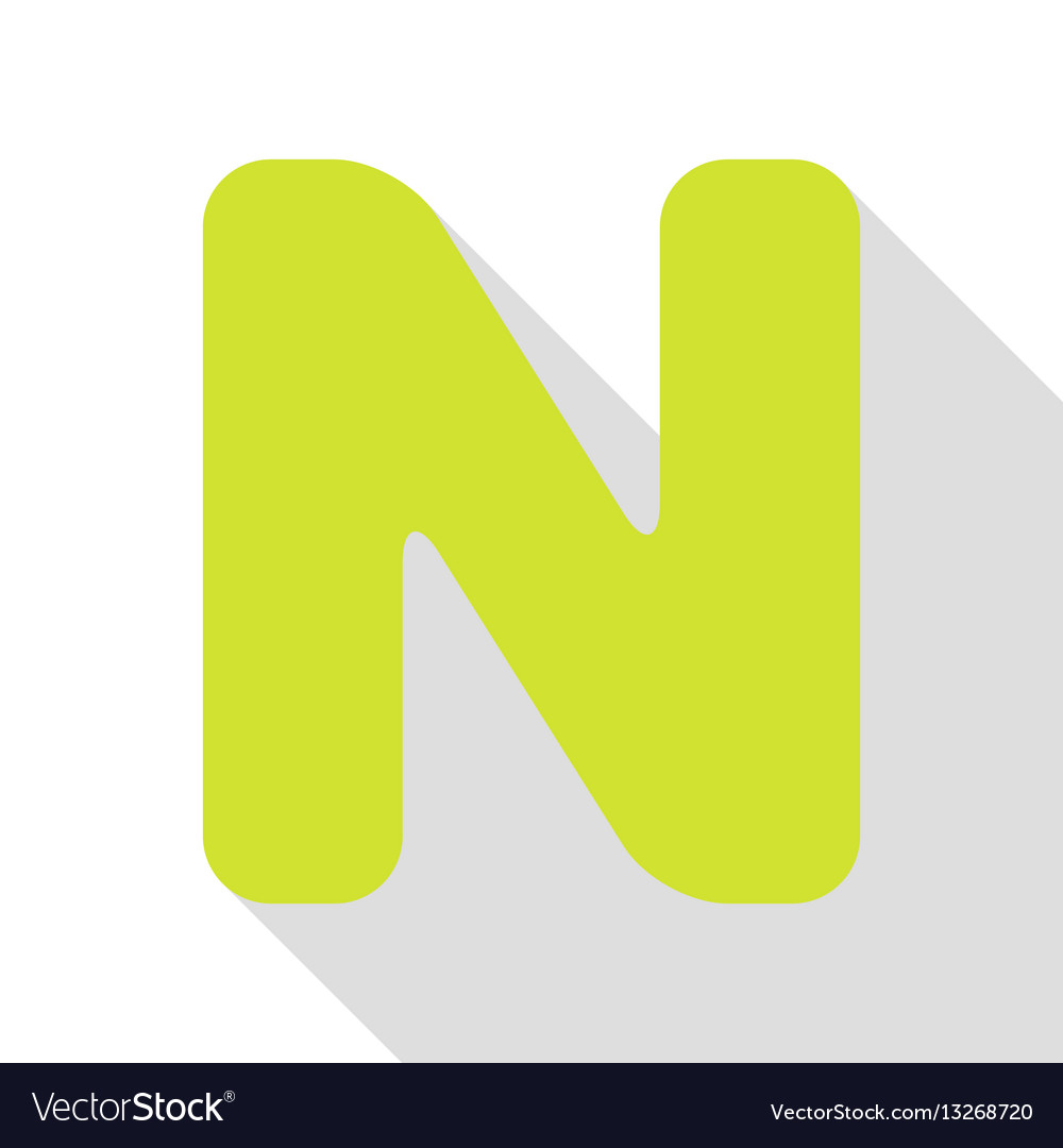 Letter n sign design template element pear icon vector image maxwellsz