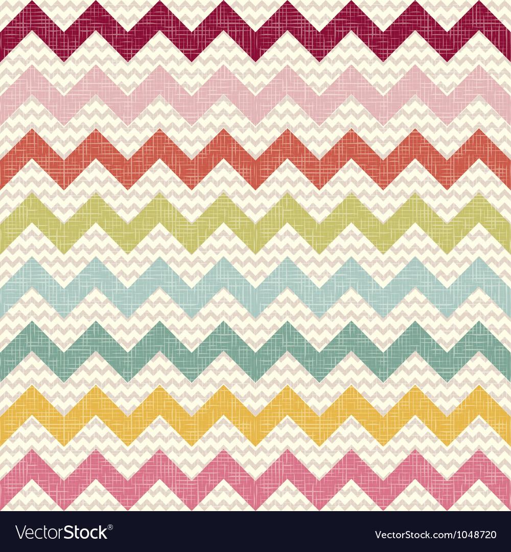Seamless color chevron pattern on linen texture