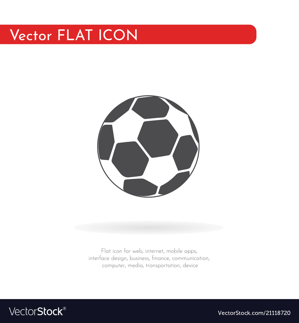 Soccer ball icon for web business finance and