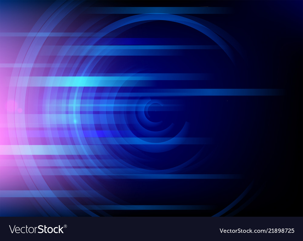 Abstract round blue background minimal fluid