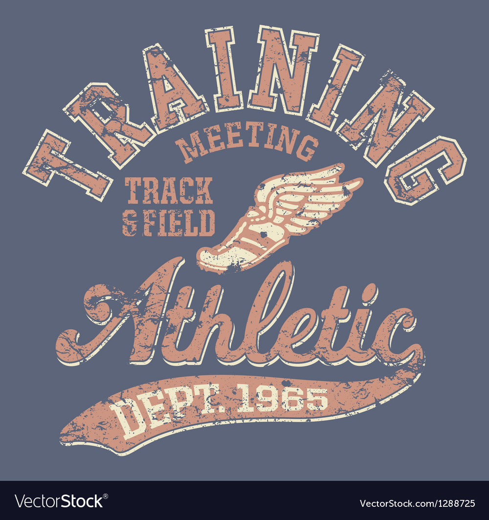 Athletic department vector image