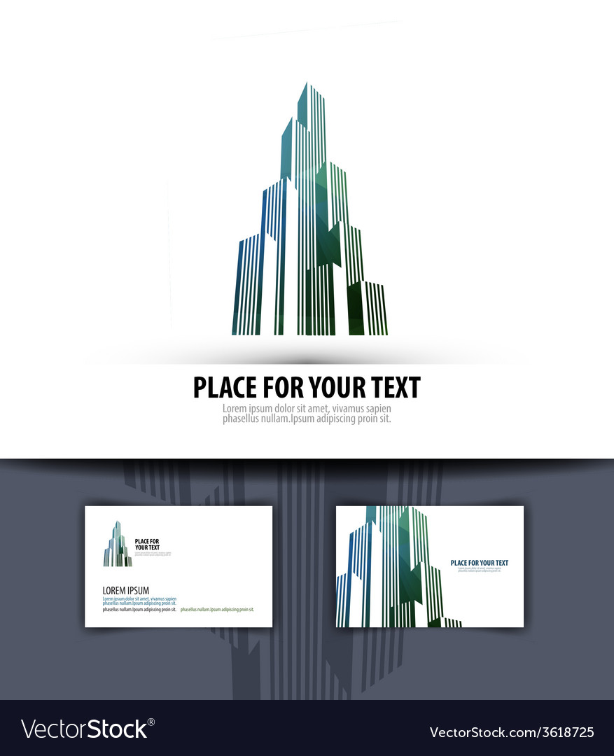 City logo icon emblem template business card vector image reheart Image collections