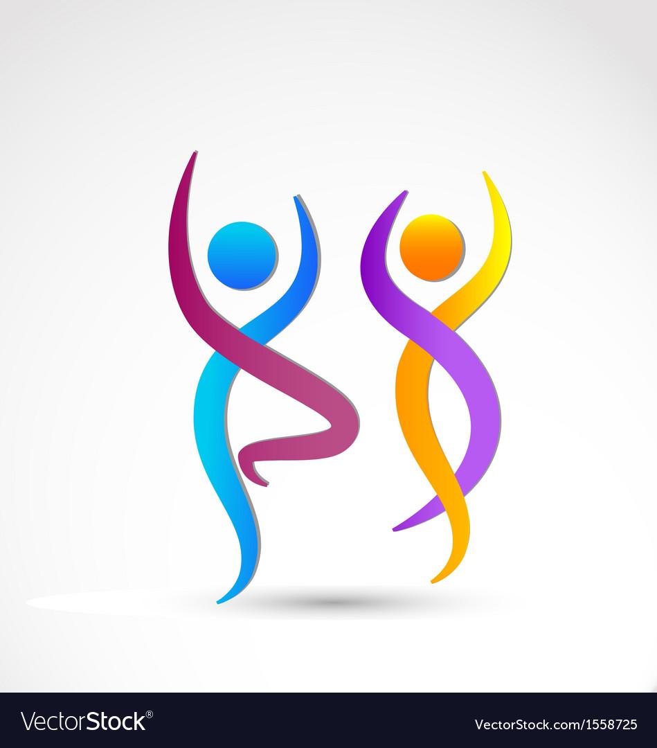 couple dancing logo royalty free vector image vectorstock