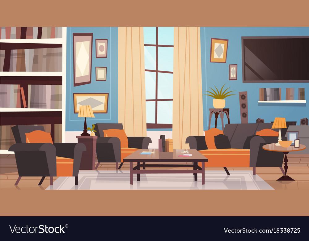 . Cozy living room interior design with modern