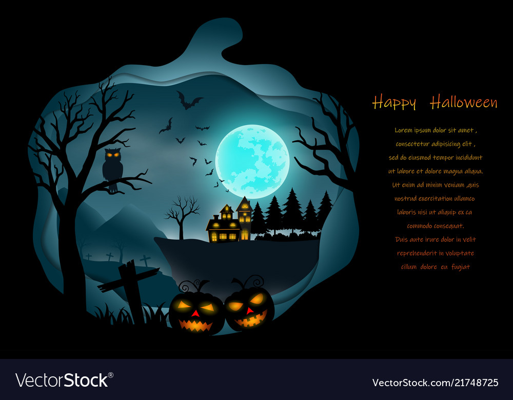 Happy halloween with full moon