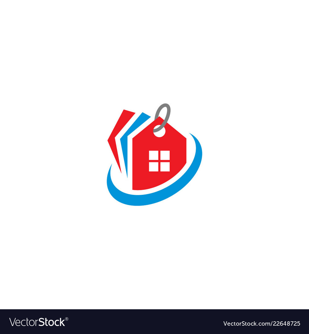House realty label logo