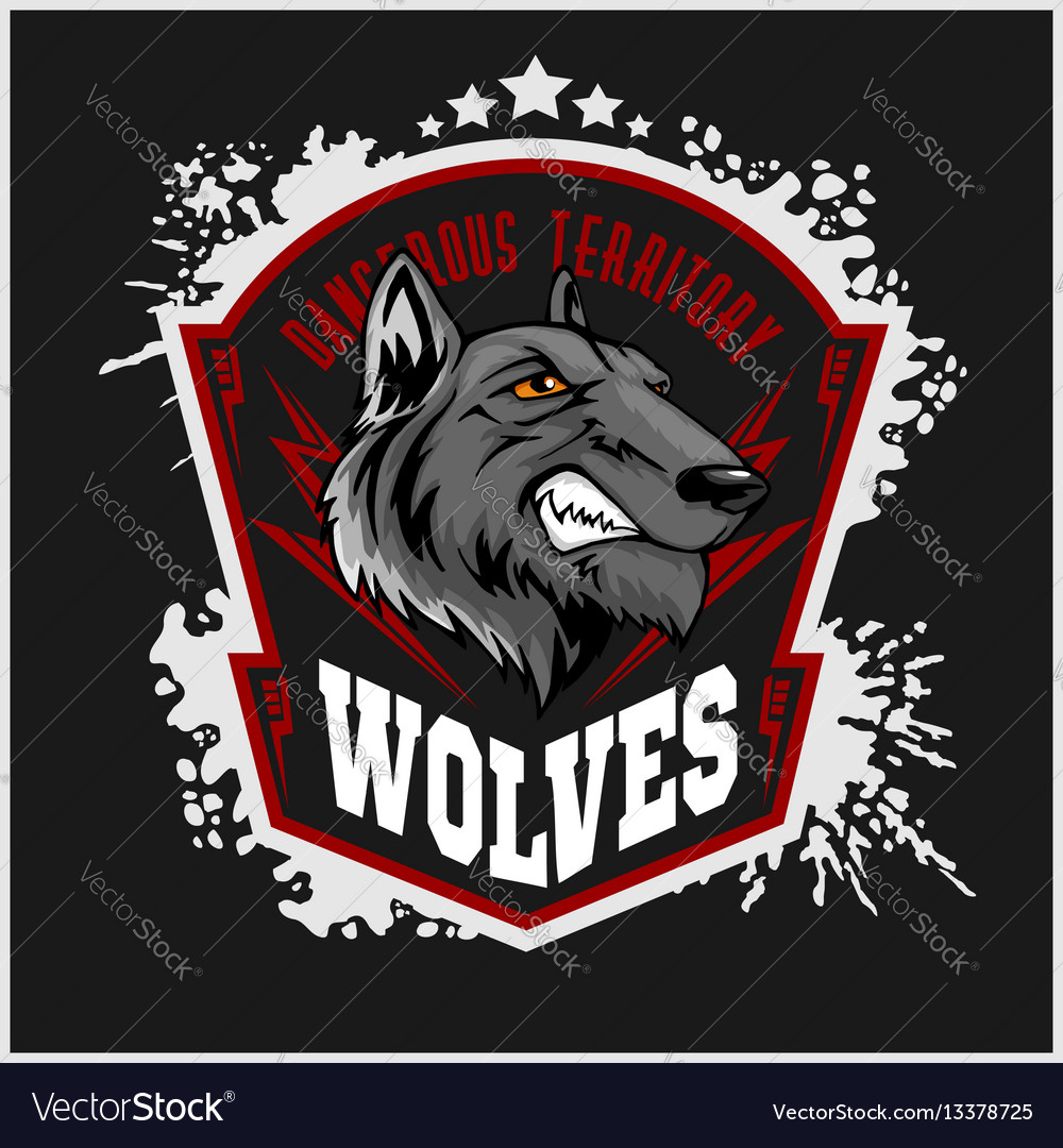 Wolves sports mascot howling wolf
