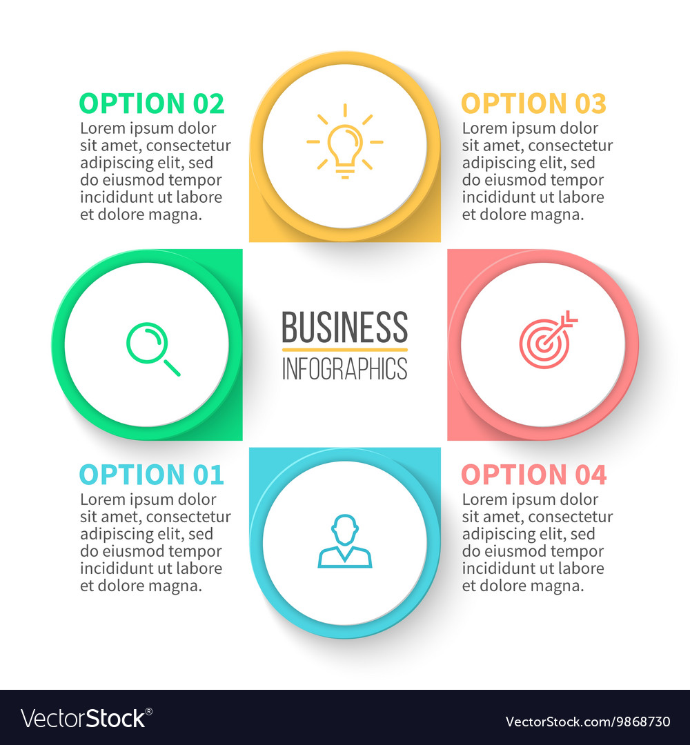 Business diagram with 4 steps vector image