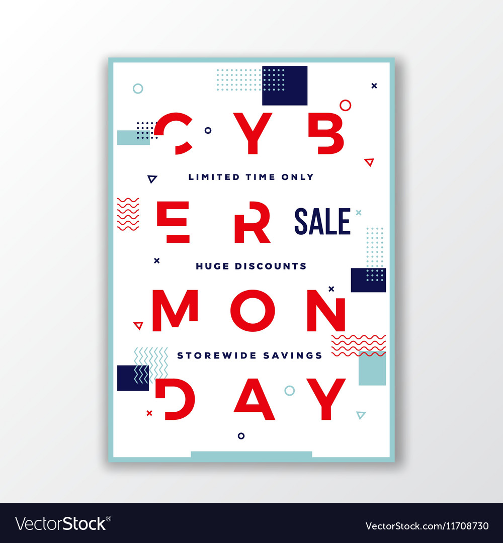 Cyber Monday Modern Typography Swiss Style Poster