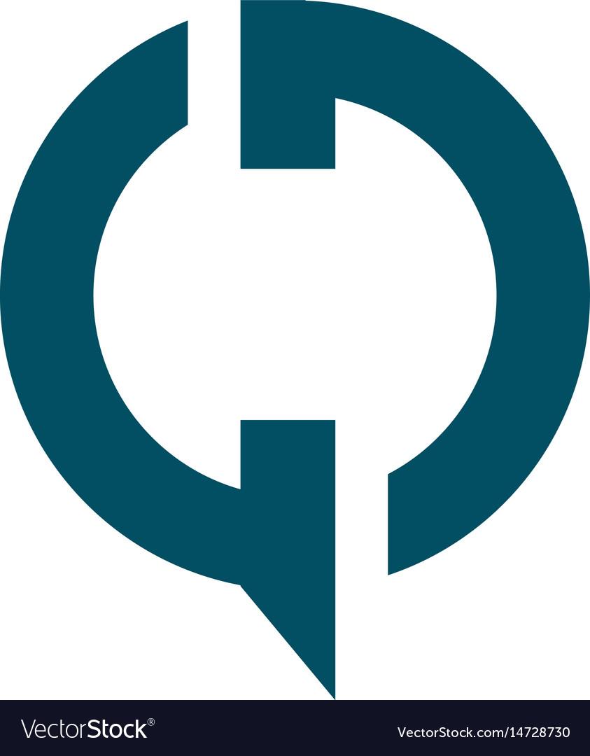 Gd modern business letter logo design vector image