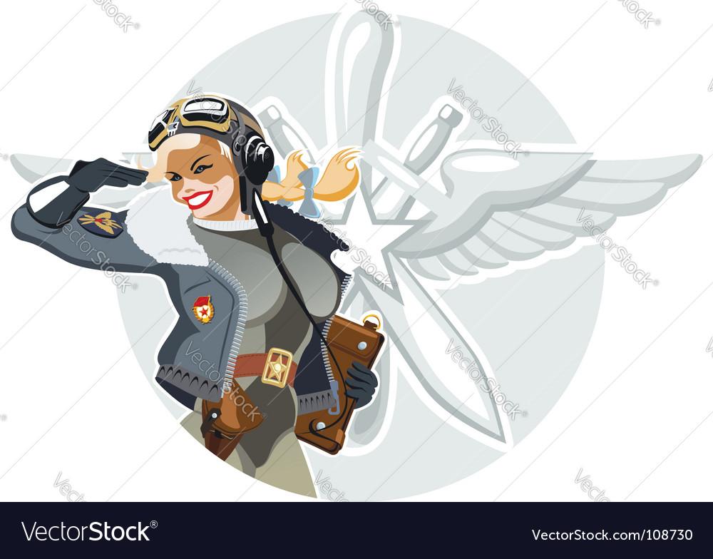 Military retro pin-up