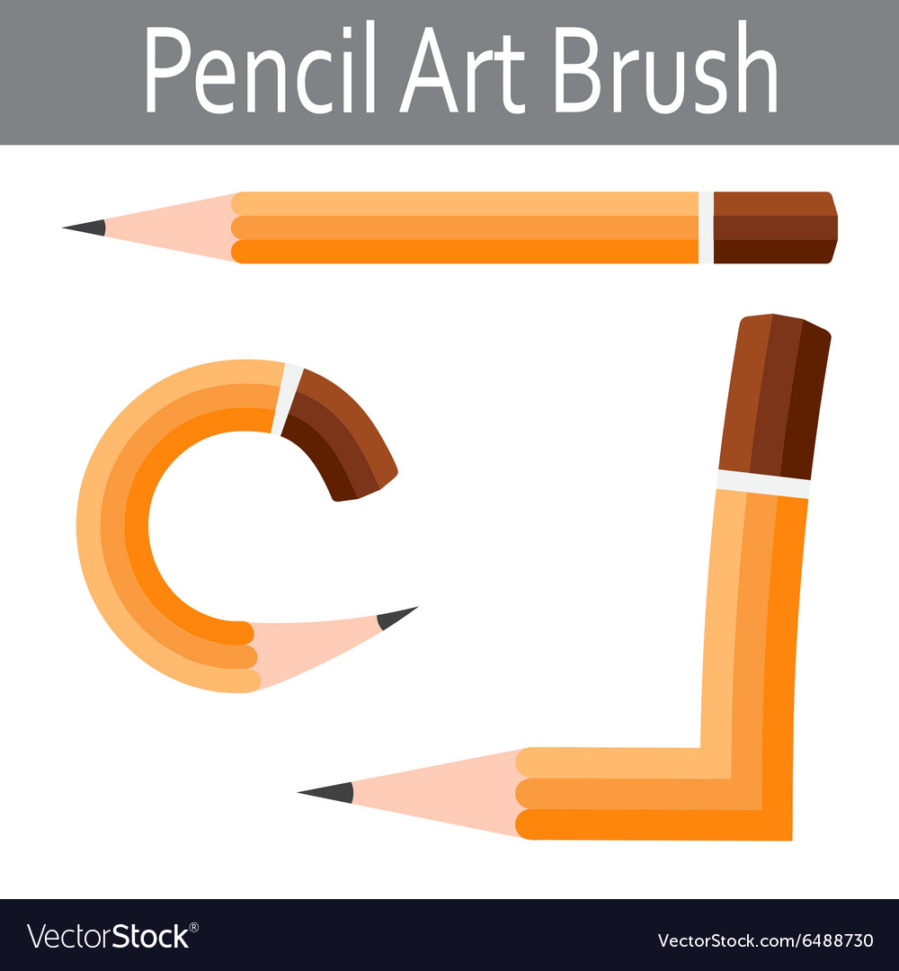 Pencil icon art brush