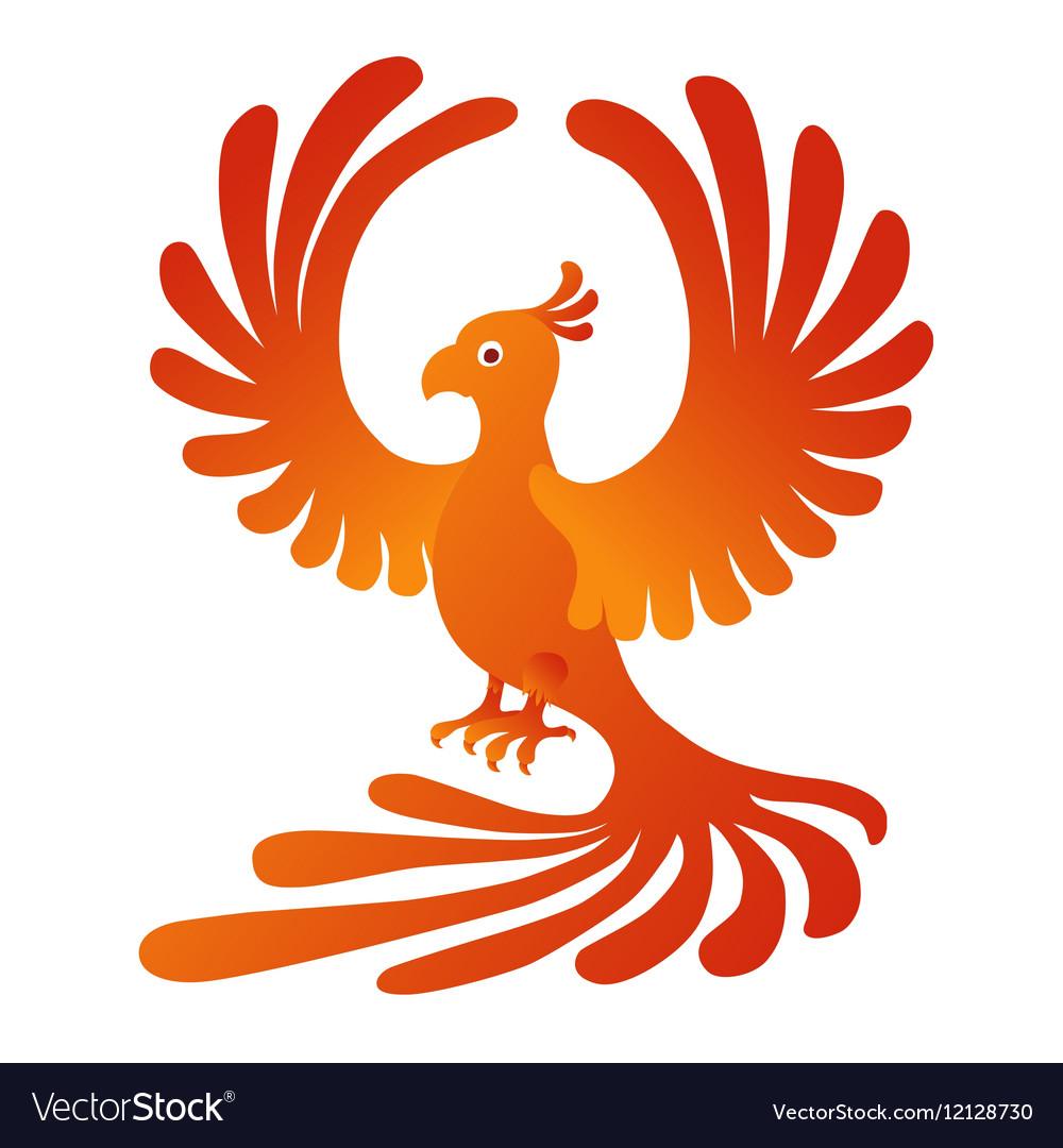 Phoenix on the white background Fire-bird