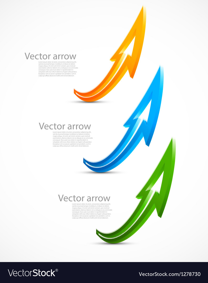 Set of color arrows