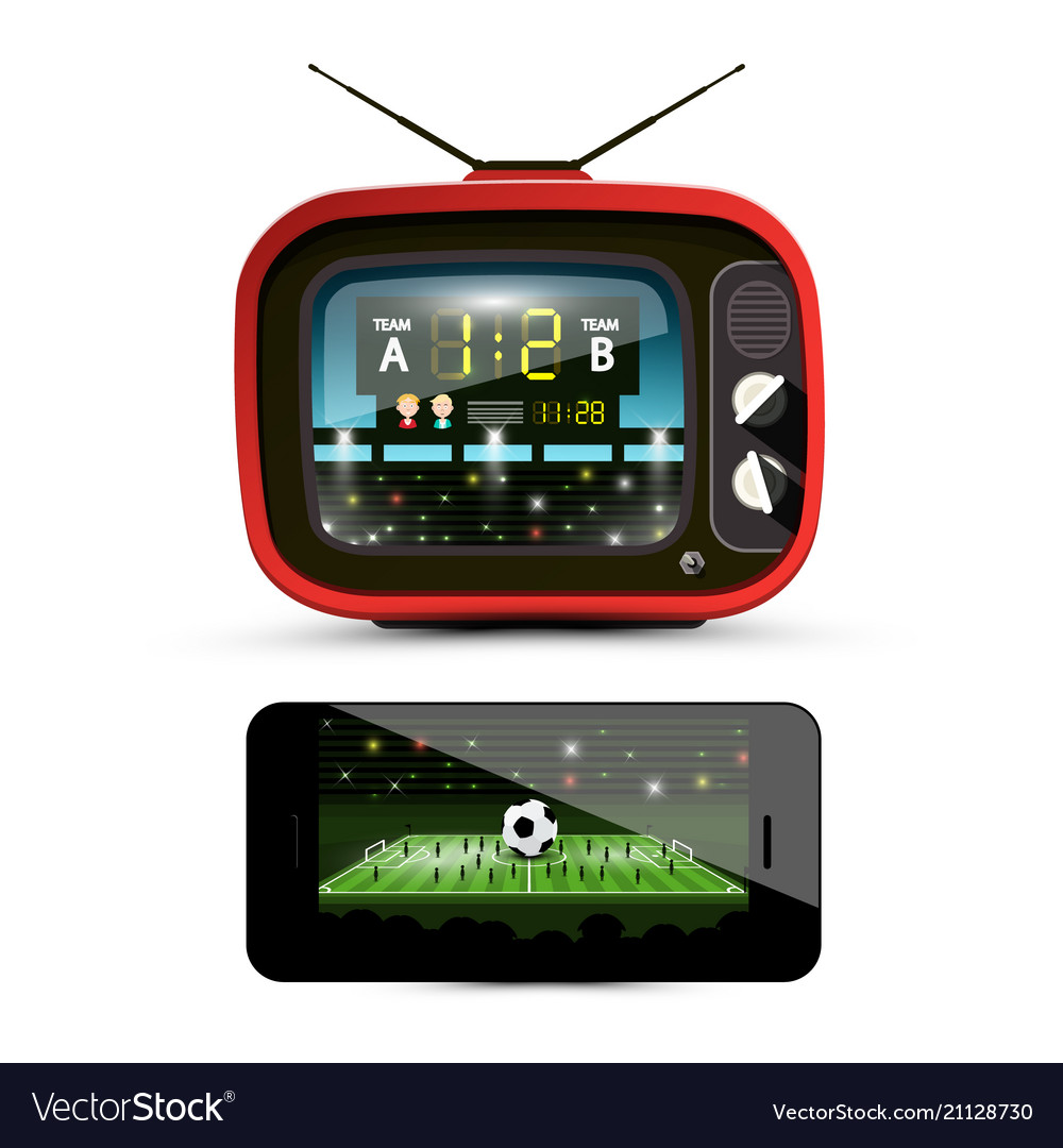 Sport streaming on television footbal match on