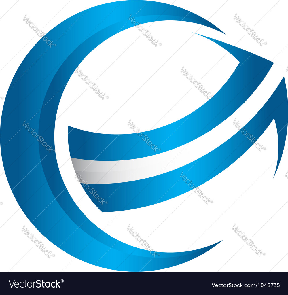 3D global arrow vector image