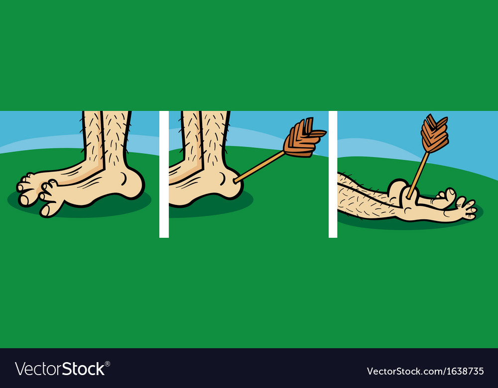 Achilles heel cartoon vector image