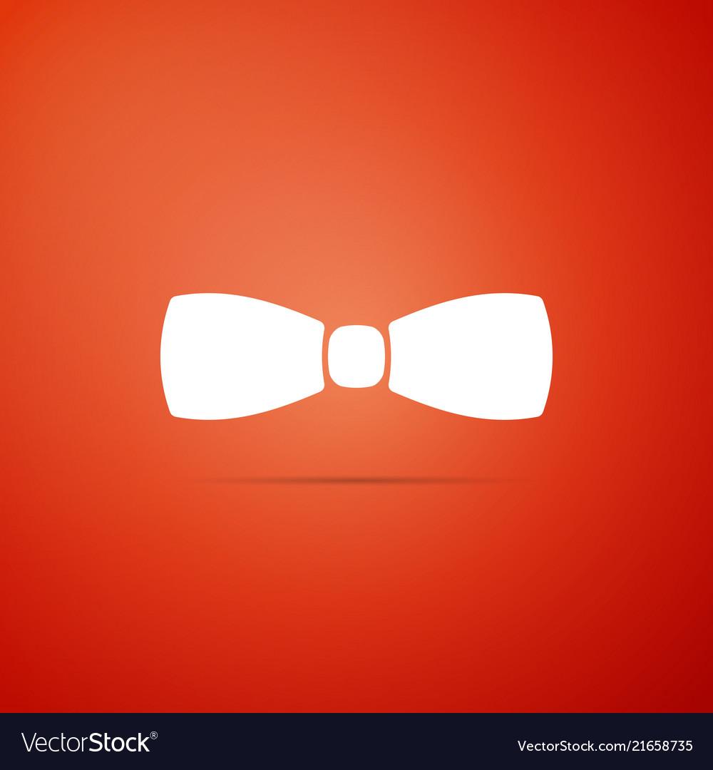 Bow tie icon isolated on orange background