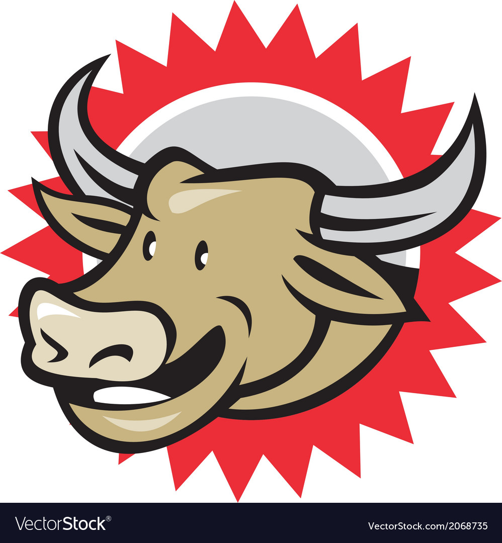 laughing cow head cartoon royalty free vector image