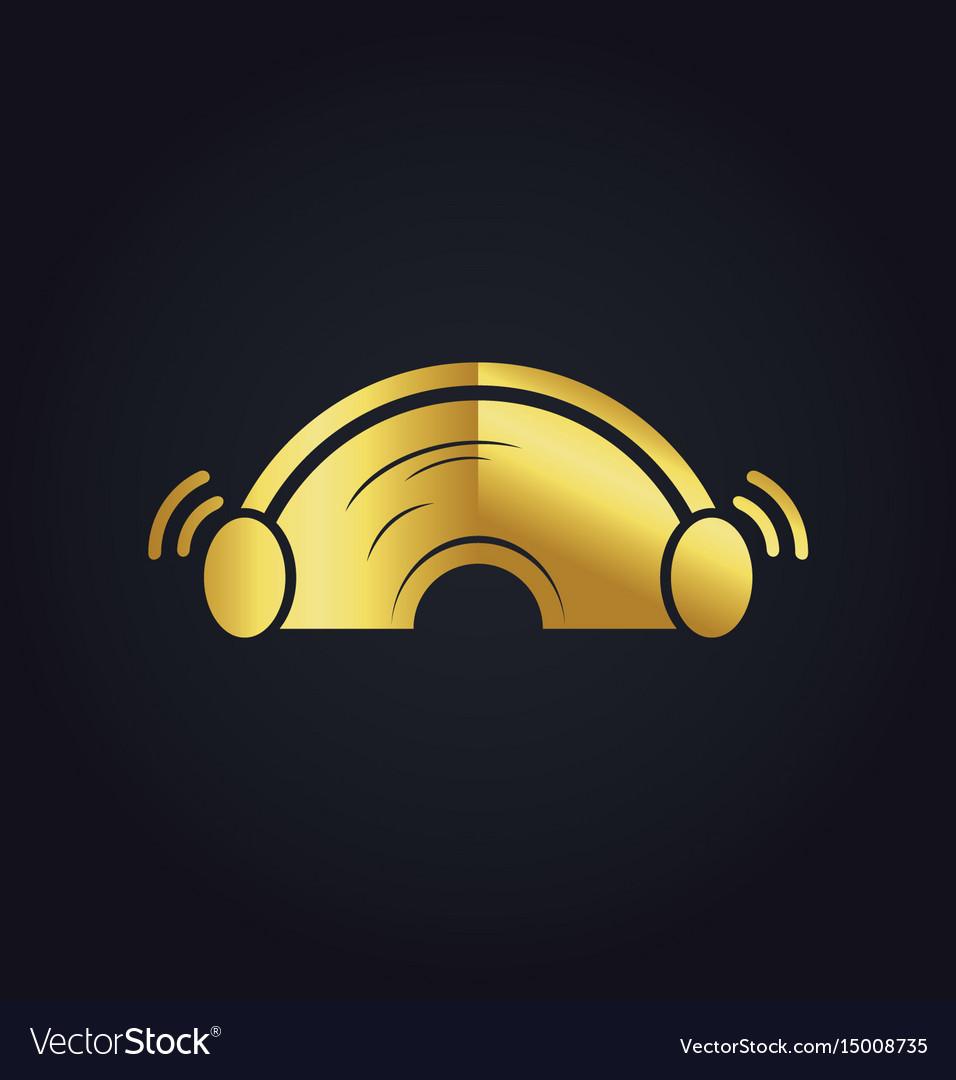 Sound ear plug gold logo