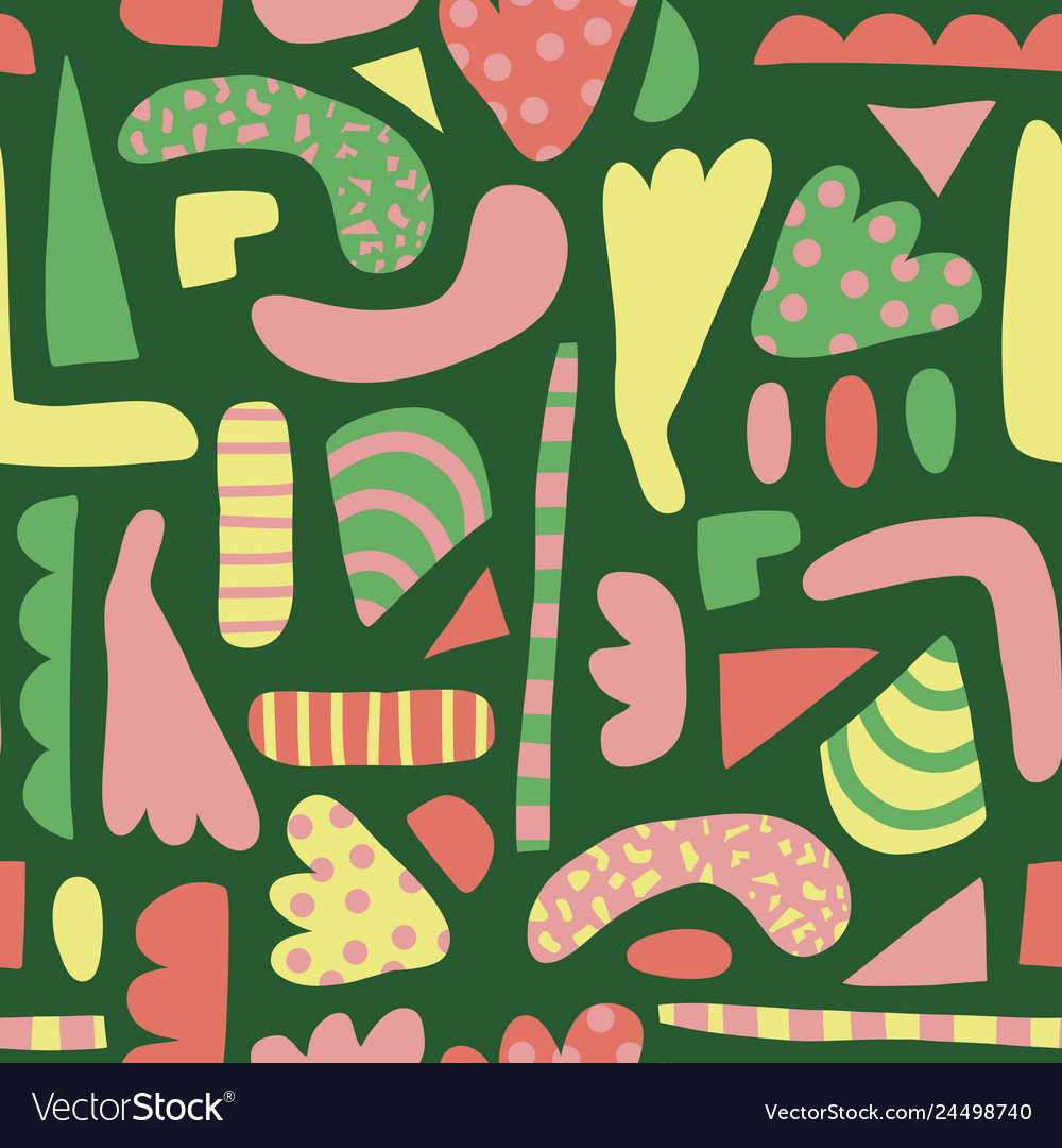 Abstract shapes seamless pattern simple