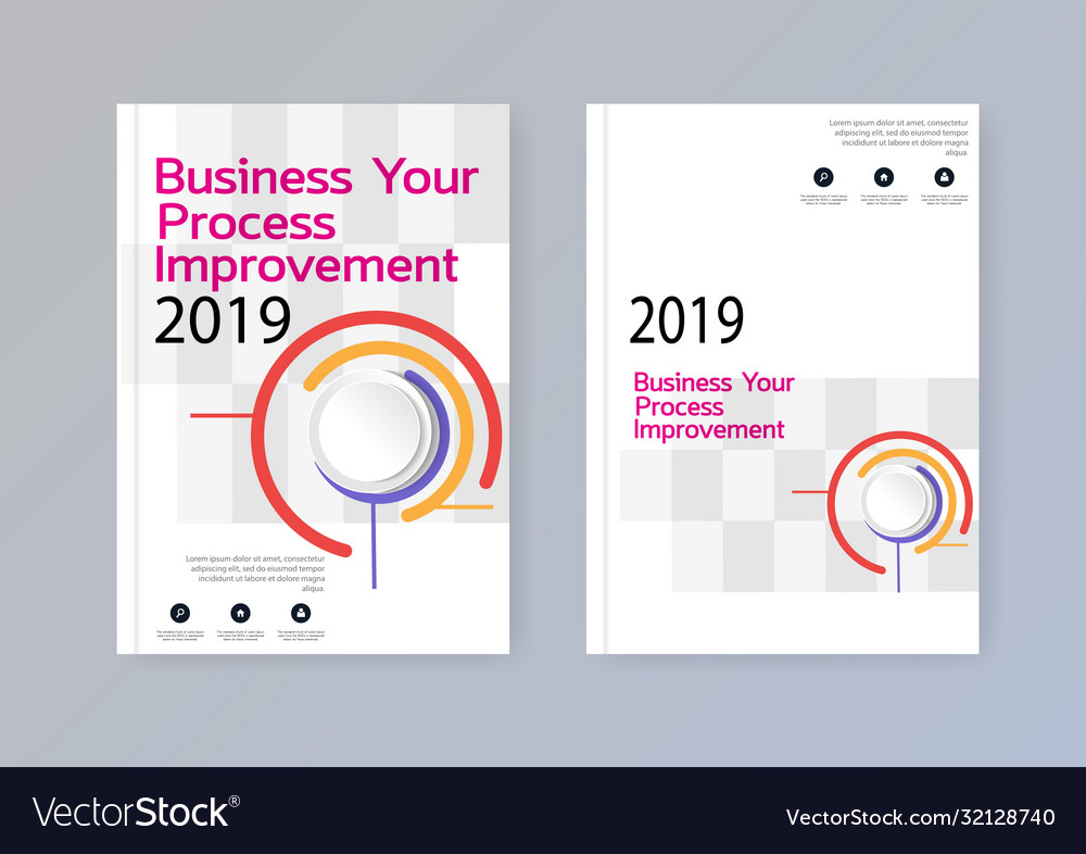 Business abstract template brochure design cover