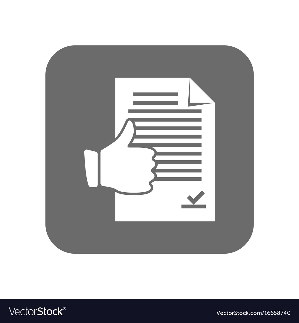Customer service icon with thumb up sign vector image