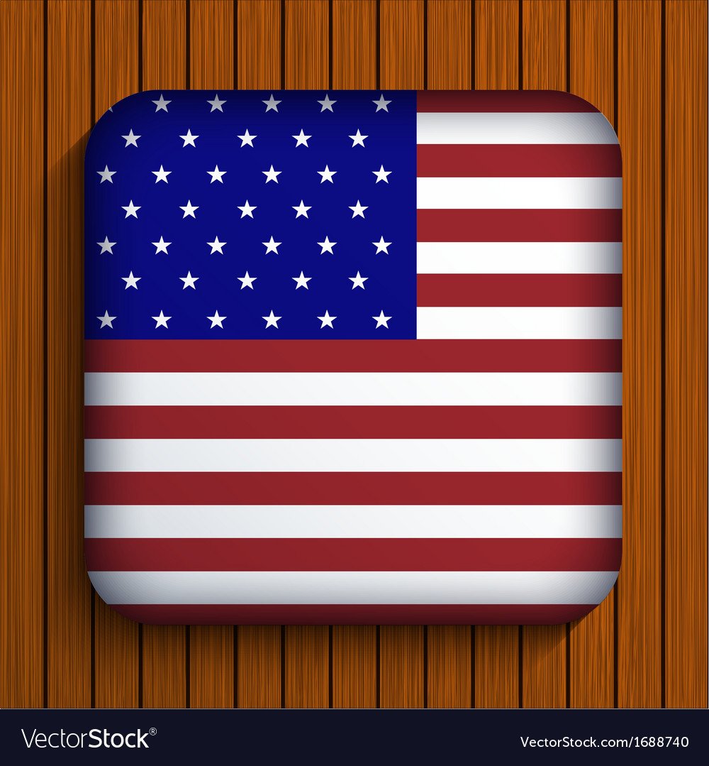 Flag icon on wooden background Eps10