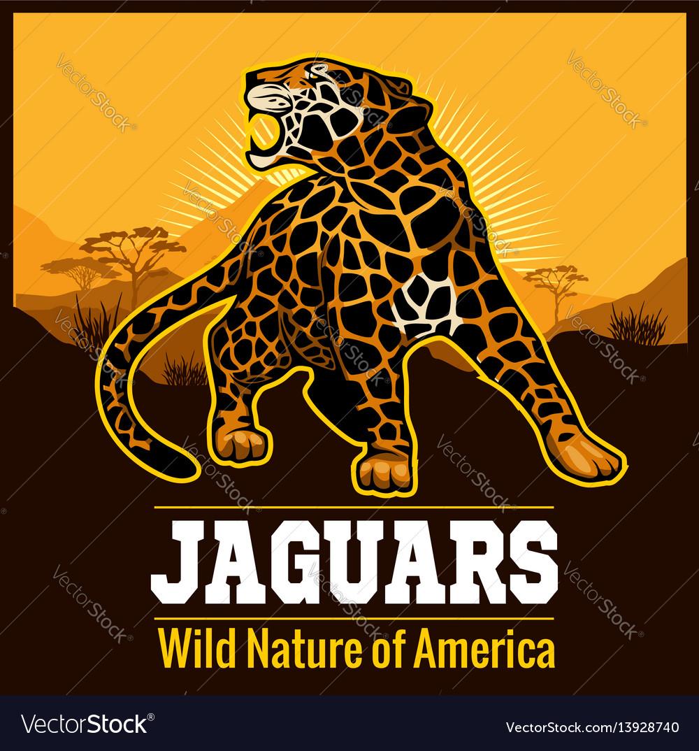 Jaguar leopard logo emblem symbol
