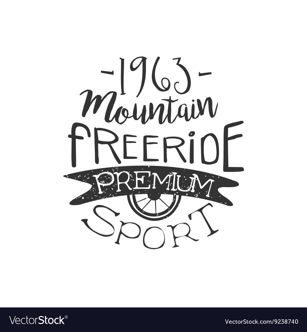 Mountain Freeride Vintage Label